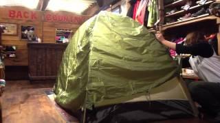 山でテントをはじめる テント設営教室