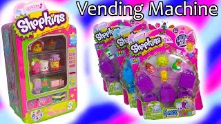 getlinkyoutube.com-15 Shopkins Season 2 Vending Machine 3 5 Packs Blind Bag Basket Review Opening Cookieswirlc