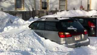 getlinkyoutube.com-How to get your car out of the snow without a shovel