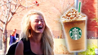 getlinkyoutube.com-GIVING WHITE GIRLS STARBUCKS!!