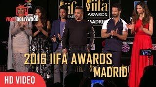 IIFA Awards 2016 Madrid Full Show Press Conference | Salman Khan, Deepika Padukone, Shahid , Tiger