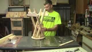 getlinkyoutube.com-How to build a Folding Stool Part 2
