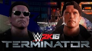 getlinkyoutube.com-WWE 2K16: Terminator T1 & T2 Entrance, Signatures & Finishers!