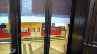 getlinkyoutube.com-Schmersal hydraulic glass elevator at Lütgendortmund railway station in Dortmund