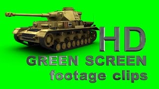 getlinkyoutube.com-German Panzer IV - green screen footage