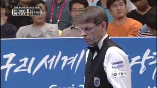 JaeHo Cho vs Torbjorn Blomdahl 3 Cushion Billiards World Cup 2014