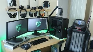 getlinkyoutube.com-My EPIC Gaming Setup & Desk Workstation Tour! [Autumn 2015]