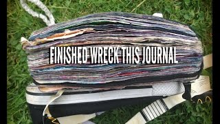getlinkyoutube.com-Finished WRECK THIS JOURNAL flip through || music version