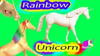 getlinkyoutube.com-Custom Painting Rainbow Unicorn Breyer Classic Model Horse - Honeyheartsc Video