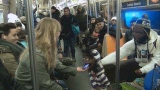 getlinkyoutube.com-Ventriloquist Picking Up Girls On The Subway(Part 1)