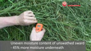 Blaney Agri SwathAir Silage Conditioner - Waffler/Swather: Moisture Metre Challenge