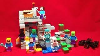 getlinkyoutube.com-레고 마인크래프트 케이브 동굴 마이크로월드 조립 리뷰와 스톱모션 LEGO 21113 Minecraft micro world The Cave