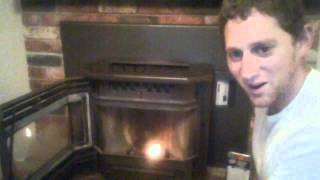 Start your pellet stove without an igniter using lighter fluid