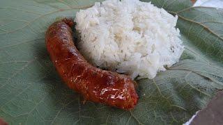 ใส้อั่ว แคปหมู เชียงตุง Kengtung local food
