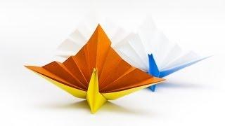 วิธีพับกระดาษเป็นรูปนกยูง Origami Peacock   ピーコックの折り紙
