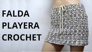 getlinkyoutube.com-Falda Playera en tejido crochet tutorial paso a paso.