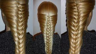 getlinkyoutube.com-Французская коса-Оригинальная. Причёска для средних, длинных волос.Причёски для девочек в школу