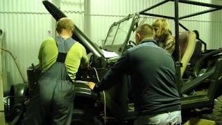 getlinkyoutube.com-ГАЗ-69 Заводка двигателя М-20 после капиталки (GAZ 69 first start)