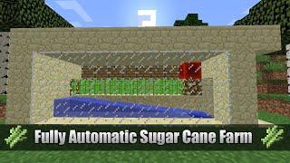 Efficient Auto Sugar Cane Farm Tutorial // 1.8 - 1.9 // Compact // Minecraft
