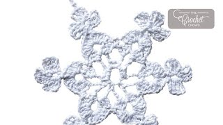 getlinkyoutube.com-How to Crochet A Snowflake: Twinkling Snowflake 1