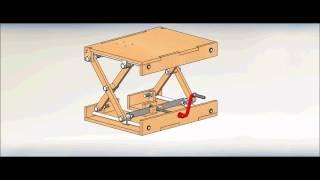 getlinkyoutube.com-Wood Scissor Lifting Table