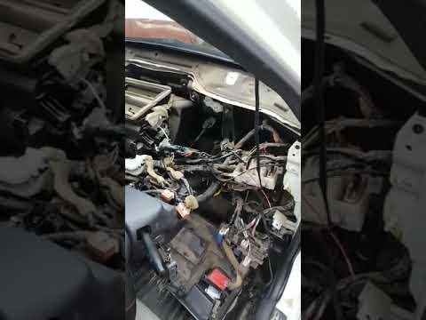 Замена радиатора печки Nissan Wingroad