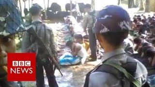 Myanmar Police Officers Detained Over Rohingya Beatings Video   BBC News
