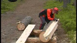 getlinkyoutube.com-Chainsaw mill with Stihl and Logosol