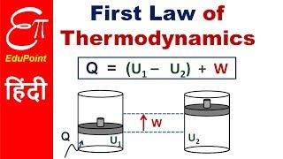 The First Law of Thermodynamics lecture | explained in HINDI