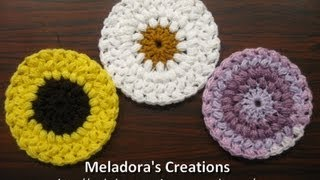getlinkyoutube.com-Bean Stitch Coasters - Crochet Tutorial