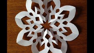 getlinkyoutube.com-Как сделать снежинку из бумаги.