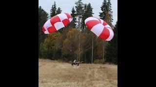 getlinkyoutube.com-10 m parachute eject, Skycat Twin 4m2