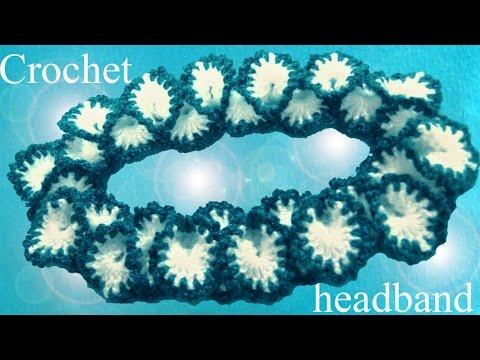 Tejer con gancho Crochet diadema en punto pétalos de orquídeas