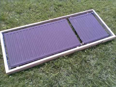 Napkollektor házilag - Homebrew solar collector