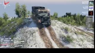 getlinkyoutube.com-Live Stream Rambow145 Spintires awesome log truck snow map!