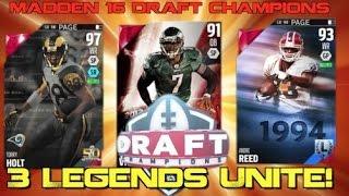 getlinkyoutube.com-3 Legends UNITE!  Madden 16 Ranked Draft Champions