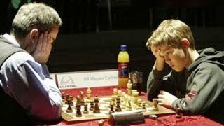 getlinkyoutube.com-Kasparov Beats Carlsen in Crazy King's Indian Defense (Garry Kasparov vs Magnus Carlsen)