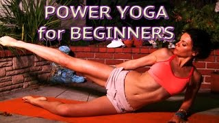 getlinkyoutube.com-Power yoga for Beginners Abs Core Legs Strength Upper Body