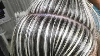 getlinkyoutube.com-Passo a Passo de Mechas na Touca Acinzentadas Grey Hair