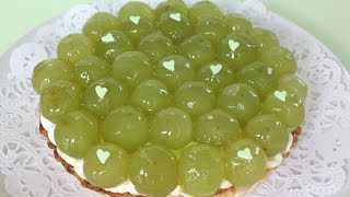 getlinkyoutube.com-Grape tart(Green grapes)マスカットタルト