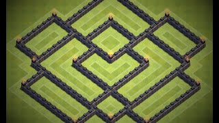 getlinkyoutube.com-BEST TH7 HYBRID BASE || DEFENCE STRATERGY || TROPHY+ LOOT