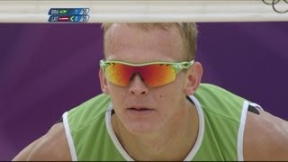 getlinkyoutube.com-Men's Beach Volleyball Semi-Final - Brazil v Latvia | London 2012 Olympics