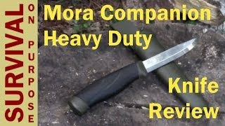 getlinkyoutube.com-Mora Companion Heavy Duty Knife Review - Survival Knives