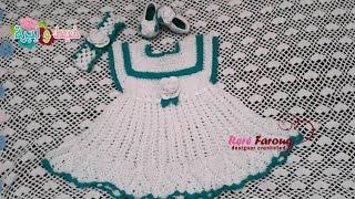 getlinkyoutube.com-كروشيه فستان بنوته عمر سنه ل 3 سنوات\خيط وابره \ Crochet Baby Dress