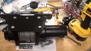 getlinkyoutube.com-2010 Honda Rancher AT TRX 420 - Xtreme Winch 3000 Install