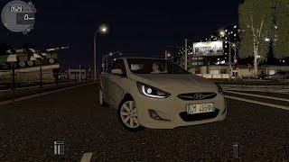 getlinkyoutube.com-City Car Driving 1.5.2 Hyundai Solaris 2011 NIGHT [G27]