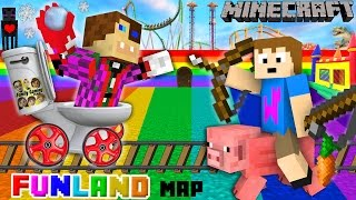 getlinkyoutube.com-Duddy & Chase go to FUNLAND 3! Minecraft Amusement Park Map (FGTEEV Theme Park Mod Gameplay)