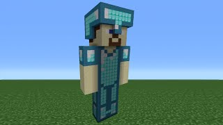 getlinkyoutube.com-Minecraft Tutorial: How To Make A Diamond Amour Steve Statue