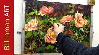 getlinkyoutube.com-How to Paint Roses - Brush Techniques & Online Art Classes for Acrylic - Oil Painting by Bill Inman