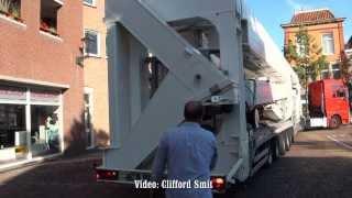 getlinkyoutube.com-Schaustellertransporte: Transport Diamond Wheel Arend Harms